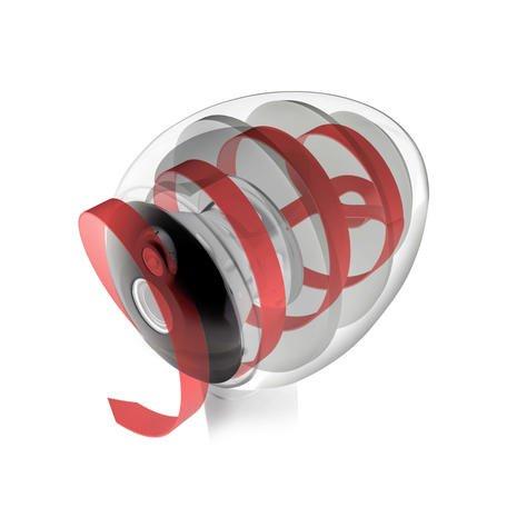 HYLIXA 스피커는 캐비닛 내부에서 1.6미터까지 감긴 나선형 전송로가 특징이며, 현재 특허 출원 중입니다..jpg